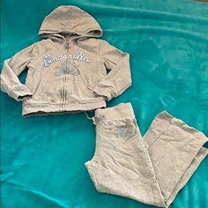 Disney Cinderella Size 4 sweater pant set